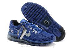 detailed look 9163b cc0c9 2014 Hommes Chaussures Nike Air Max 2013 LG Hive Bleu Blanc Nike Max, Cheap  Nike