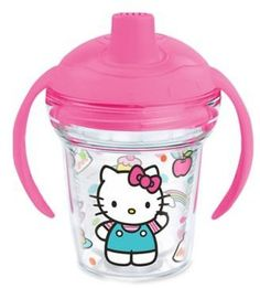 Tervis My First TervisTM Hello Kitty 6 oz. Sippy Design Cup with Lid Baby Girl Items, My Baby Girl, Baby Love, Hello Kitty Nursery, Hello Kitty Baby, Baby Alive Food, Best Baby Bottles, Kids Corner, Have Some Fun