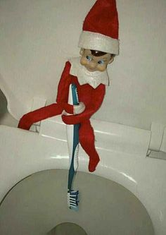 C'mon. That's just gross.   22 Naughty Things The Elf On A Shelf Is Doing While You're Not Home