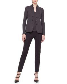 Akris Silk Pique Jersey Reversible Jacket & Tank