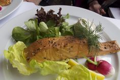 Salmon appetizer from Den Skalede Kok. Do you have a stove-top smoker? We are looking  for someone to test our translation of this delicious recipe for Eat Smart in Denmark.
