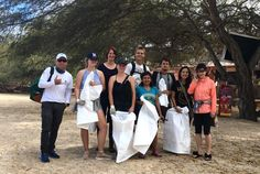 Volunteers help with a beach clean up on the Galapagos Beach Clean Up, Galapagos Islands, Gap Year, Volunteers, Conservation, Time Out, Sabbatical Leave, Canning