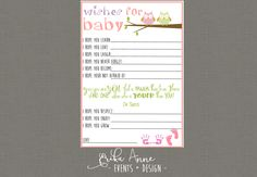 Wishes for Baby Girl with Dr Seuss Quote Feature
