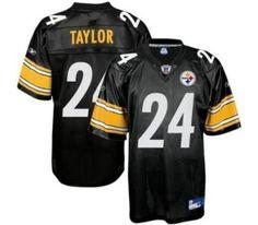 0467f4bbdeb ... Elite Home Jerseys Reebok Pittsburgh Steelers Ike Taylor 24 Black  Authentic Jerseys Sale Nike Steelers 24 Ike Taylor 80th Anniversary ...