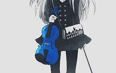 Resultat d'imatges de chicas tocando violín manga