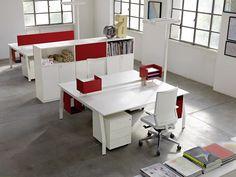 Workstation desk TEN UP by Sinetica Industries