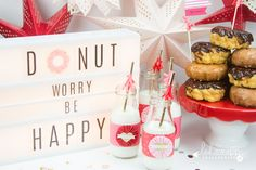 Create Well Create Often: Heidi Swapp - Lightbox Donut Worry Be Happy Party Birthday Party Desserts, Fun Desserts, Lightbox Letters, Lightbox Quotes, Light Of Life, Light Up, Licht Box, Light Board, Baby Shower Desserts