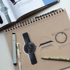 After a little inspiration thought I would try my first watch design and sketch…