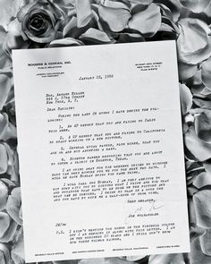 LETTER FROM HER PUBLICIST: In a letter of 1959 Joe Wolhandler lists the several inaccurate press stories he has had to deny in the past 24 hours. He concludes, 'I am in the business 20 years and I still don't know how these things happen'