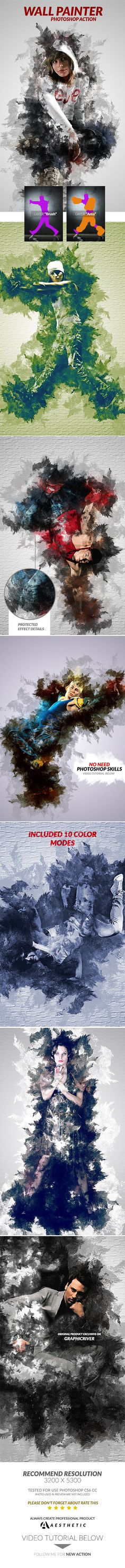 Wall Painter Photoshop Action