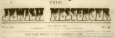 """In December 1863, The Jewish Messenger newspaper reported, """"The Rev. S. Weil recite[d] the prayer for the Government in both Hebrew and English…The [Washington Hebrew] Congregation is prospering greatly, numbering about ninety members.""""  Washington Hebrew Congregation was the first Jewish congregation's in the nation's capital.  Image courtesy of the Library of Congress."""