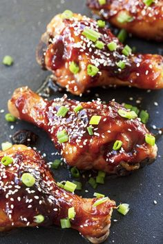 A quick and easy Korean BBQ sauce is the key in these Korean Glazed Chicken Drumsticks. You are going to want to put it on everything. #bbq #bbqrecipes #bbqsauce #bbqchicken #bbqparty #grillingrecipes #grillrecipes #chicken #healthy #healthyrecipes #chickenrecipes #health