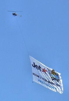 Jetstar Flying Advertising Banner