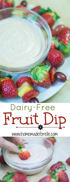 Dairy-Free Fruit Dip #paleo #grainfree #glutenfree