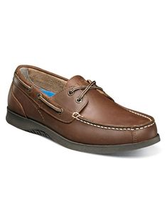 Nunn Bush® Bayside Lites Shoe - Moc toe two-eye boat shoe with genuine leather upper. Molded dual comfort memory foam and lightweight flexible EVA outsole. Smartscent footbed t Minimalist Outfit Summer, Brown Oxfords, Memory Foam, Boat Shoes, Lounge Wear, Toe, Leather, Size 12, Products
