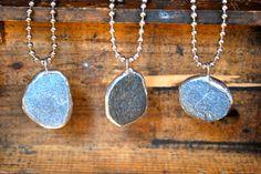 Beach Stone Necklaces. $20.00, via Etsy.