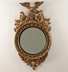 ENGLISH REGENCY STYLE CARVED GILTWOOD MIRROR