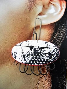 New View, Home Art, Jewelry Art, Hoop Earrings, Unique, Handmade, Hand Made, Earrings, Handarbeit