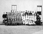 St. Paul's Indian Industrial School, Manitoba, 1901