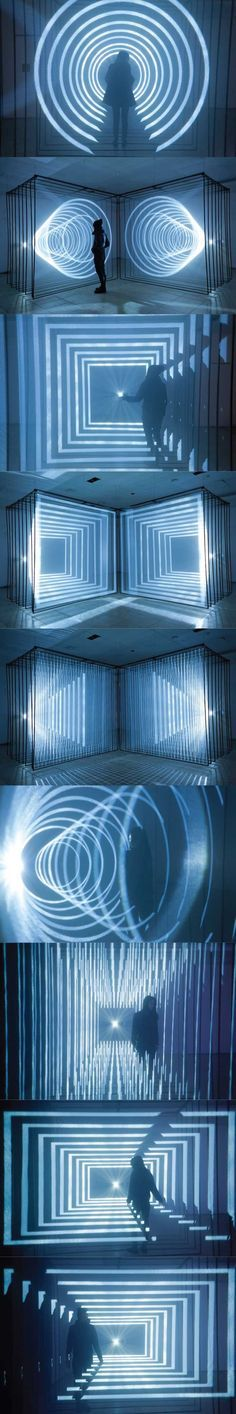 light art installation Isotopes by Nonotak Studio Stage Lighting, Neon Lighting, Lighting Design, Light Art Installation, Interactive Installation, Art Installations, Bühnen Design, Vitrine Design, Espace Design