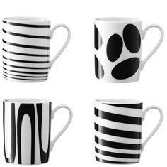 Stripes and ovals mugs