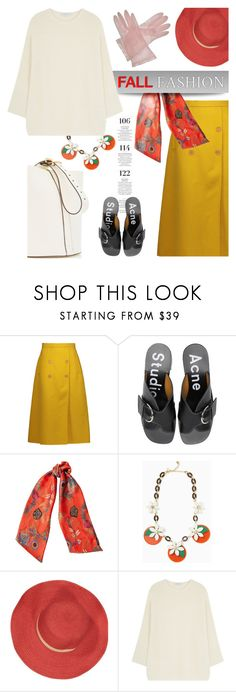 """Ode to Fall"" by pattykake ❤ liked on Polyvore featuring Rochas, Martha Stewart, Acne Studios, Etro, Kate Spade, Bleu Comme Gris, Gérard Darel and Elodie"