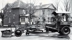 Just a car guy : a road grader, or snow plow, by Champion Road Machinery company, Goderich Ontario... with and without cat tracks