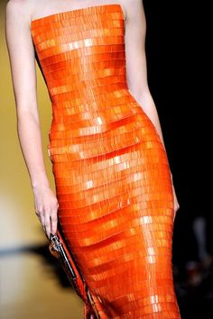 Orange: #Orange gown, Giorgio Armani Prive: Runway - Paris Fashion Week Haute Couture F/W 2011/2012.