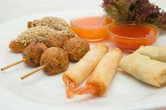 Thai Mixed Starter. La mejor manera de comenzar un almuerzo en Padthaiwok