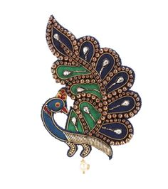 GUCCI Embroidered brooch. #gucci #jewellery