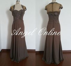 brown mother of the bride dress.long mother of the bride dress plus size.wedding guest dress.evening dress.women formal dress/party dress