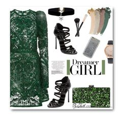 """""""Dreamer GIRL"""" by faith-292 ❤ liked on Polyvore featuring Elie Saab, Edie Parker, Casadei, Gucci, Morphe, Jessica Carlyle, Agent 18, polyvoreeditorial and polyvorefashion"""