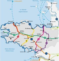 Brittany cycle routes