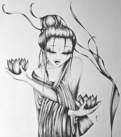 La Geisha aux lotus