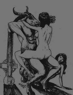 Death metal Satanic Art, Baphomet, A Beast, Horror Comics, Dark Lord, Dark Places, Photo Projects, Death Metal, Coven