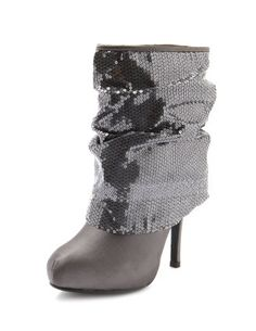 Oooooh Gray sequin bootie how my feet long to wear thee!! Lol