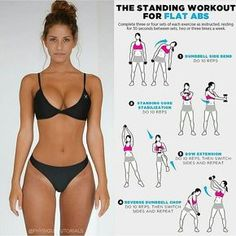 "3,907 Likes, 30 Comments - Fitness & health (@only.fitness.health) on Instagram: ""The standing workout for flat abs! ❤️ . Follow @only.fitness.health . 