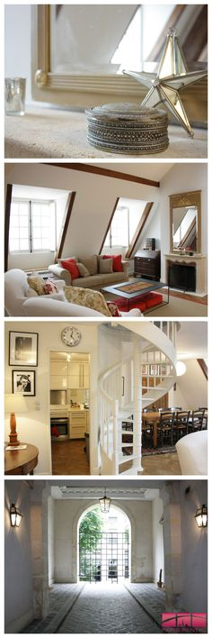 #Charming 2 bedroom #furnished #rental in the historic #3rd #arrondissement of #Paris.