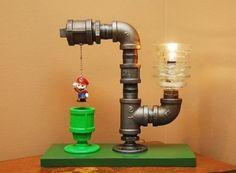 12 Diy Lampe, Glass Insulators, Cool Lamps, Industrial Pipe, Industrial Style, Design Industrial, Industrial Lighting, Vintage Industrial, Pipe Lamp