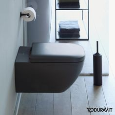 Now redefine your bathroom look with the classic wall mounted toilet from the Happy range of Duravit. The toilet is supplied with Durafix for a neat, Next Bathroom, Downstairs Toilet, Duravit, Toilette Design, Wc Design, Wc Sitz, Bathroom Interior Design, Beautiful Bathrooms, Restaurant Design