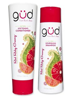 Best All-Around Shampoo & Conditioner  Not only is it filled with ingredients to help boost hair health, like sunflower seed oil and hibiscus, but it also has an energizing scent of grapefruit and thyme.  Gud from Burts Bees Red Ruby Groovy Natural Nourishing Shampoo and Conditioner, $7, drugstore.com