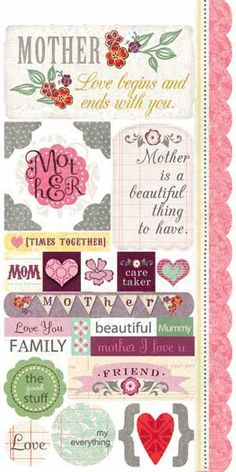 Carolee's Creations - Adornit - Charmed Collection - Cardstock Stickers - Beautiful Mom at Scrapbook.com $1.99