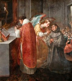 St Bonaventure Receiving Communion from the Hands of an Angel Artist: Herrera the Elder,1628 Musée du Louvre, Paris