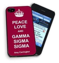 Peace Love & Gamma Sigma Sigma Phone Cover