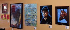 Art Clash competition in Wayland's Daily Brews ... vote for the oil painting by Viestarts Aistars!