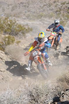 Round 1 of 2011 AMA National Hare & Hound Series.  Kevin DeJongh and Morgan Crawford