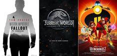 Repaso a los mejores estrenos de películasque llegarán durante el verano de 2018 a los cines de España. Han Solo, Jurassic World 2, Los increíbles 2 o Misión Imposible 6 #estrenos2018