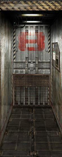 Freight Elevator Door Decal Wall Decals Wall Decal - 81 x 203 cm Star Wars Classroom, Elevator Door, Vinyl Doors, Metal Doors, Do It Yourself Design, Spaceship Interior, Door Stickers, Unique Hotels, Affordable Wall Art