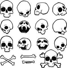 Graffiti Lettering Fonts, Graffiti Alphabet, Graffiti Art, Cartoon Drawings, Easy Drawings, Skull Icon, Doodle Art Designs, Skull Illustration, Skull Artwork