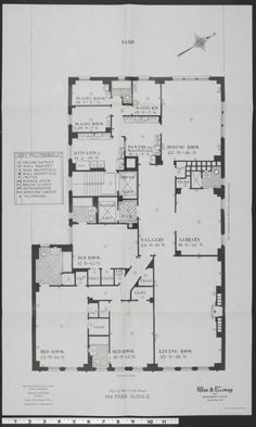 944 Park Avenue, Plan Of 6th To 15th Floors - Columbia Digital Library Collections